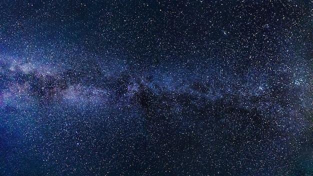 Céu estrelado da via láctea