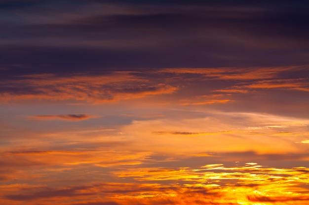 Céu no amanhecer