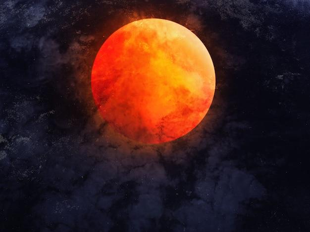 Céu noturno abstrato com a lua cheia para o fundo de halloween.