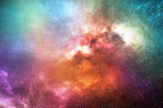 Céu noturno com estrelas e nebulosa