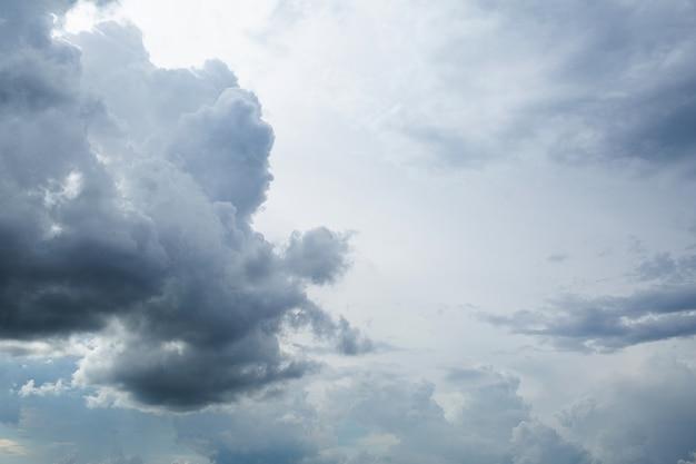 Céu nublado com nuvens cinzentas pesadas