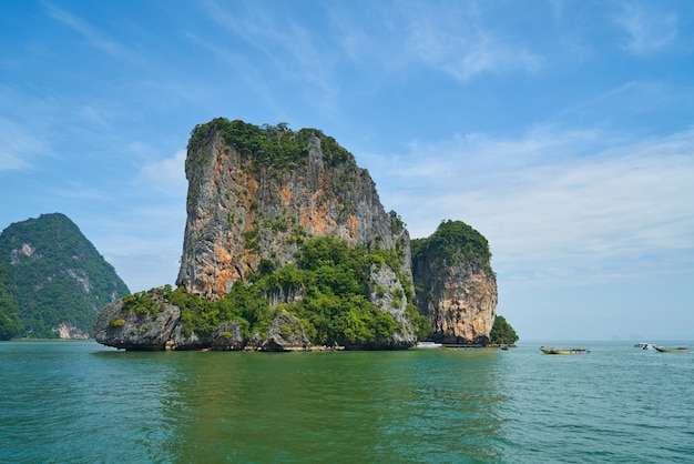 Céu, paisagem, krabi relaxamento água