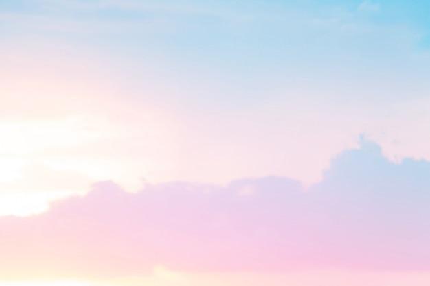 Céu suave em cor pastel