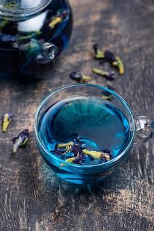 Chá azul ervilha borboleta ou anchan