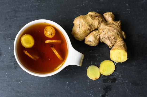 Chá com gengibre
