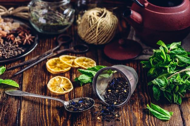 Chá com menta e limão