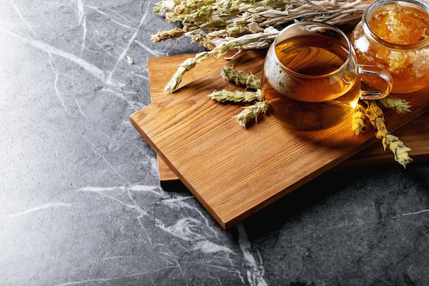 Chá de ervas grego verde