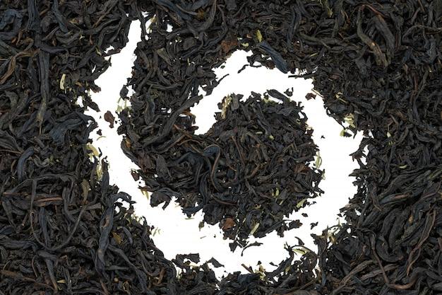 Chá de fireweed com erva do thymus, fim acima.