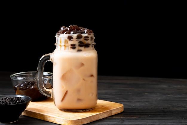 Chá de leite de taiwan com bolha