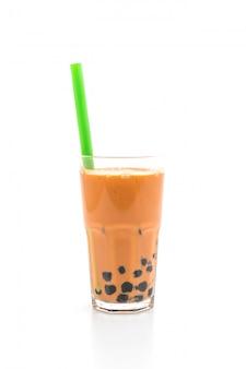 Chá de leite tailandês com bolha