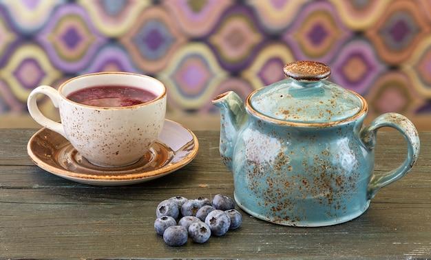 Chá de mirtilo
