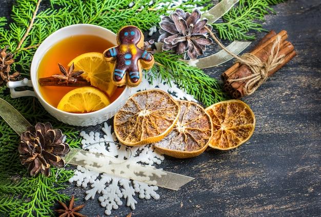 Chá de natal com limão