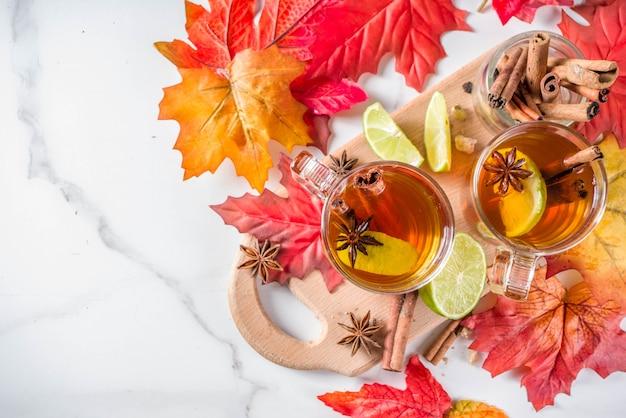 Chá de outono picante quente