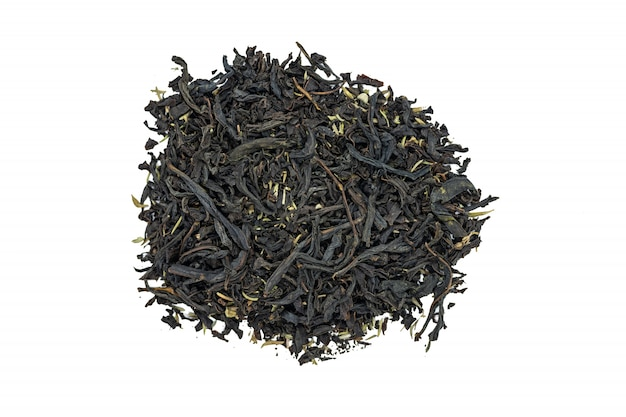 Chá do fireweed com erva do tomilho, fim acima, isolado.