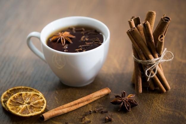 Chá e canela