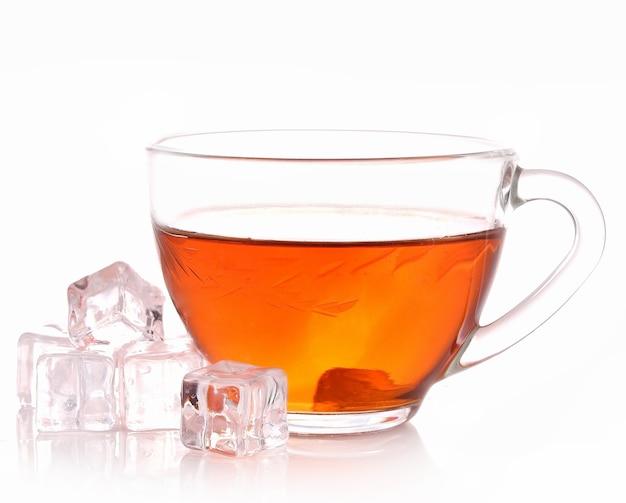 Chá gelado com branco