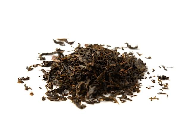 Chá ivan seco isolado no branco.