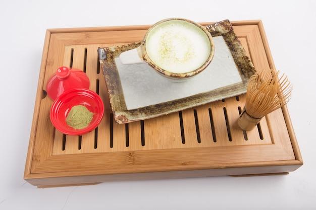 Chá matcha japonês