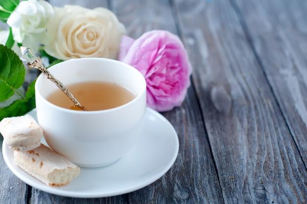 Chá no estilo shabby chic