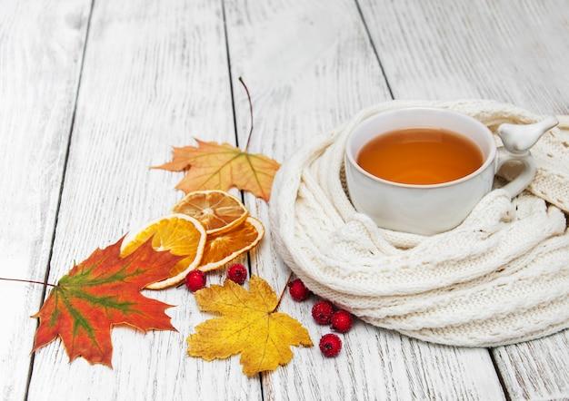 Chá quente com especiarias