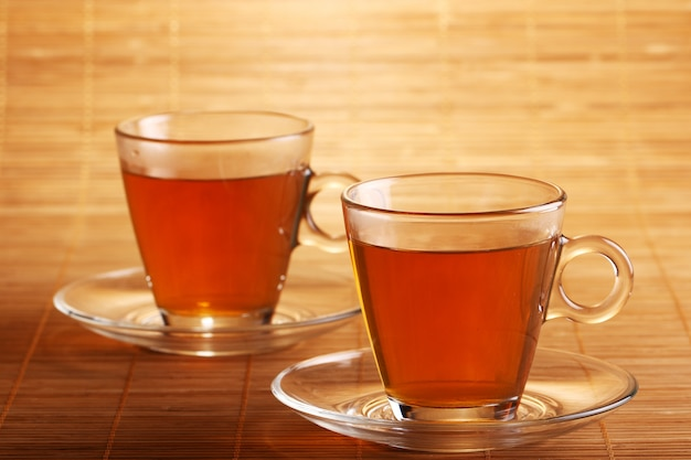 Chá quente e fresco