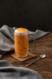 Chá tailandês bebida famosa bebida tradicional