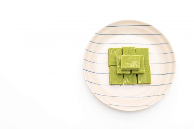 Chá verde com chocolate macio