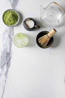 Chá verde matcha em pó