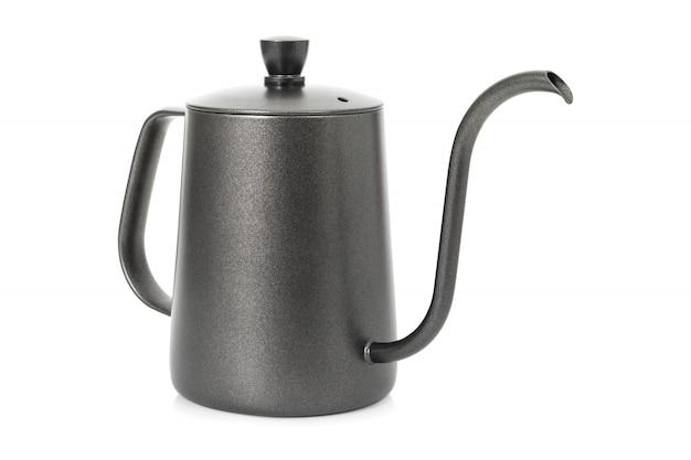 Chaleira de café isolada. chaleira de chá com alça.