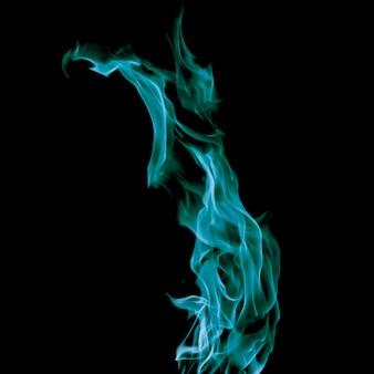 Chama azul de fogo