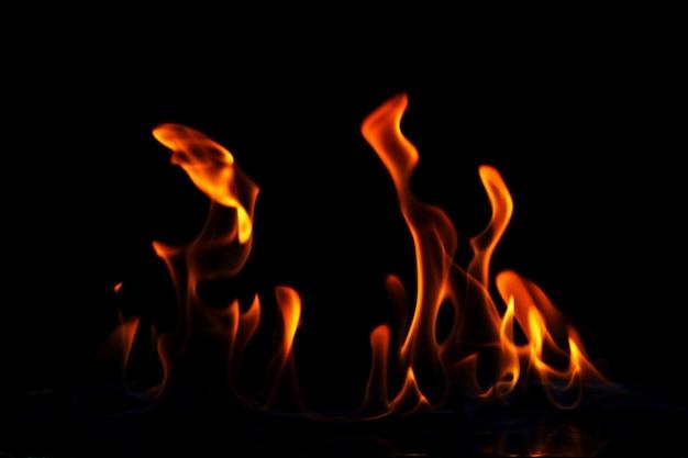 Chama de fogo brilhante