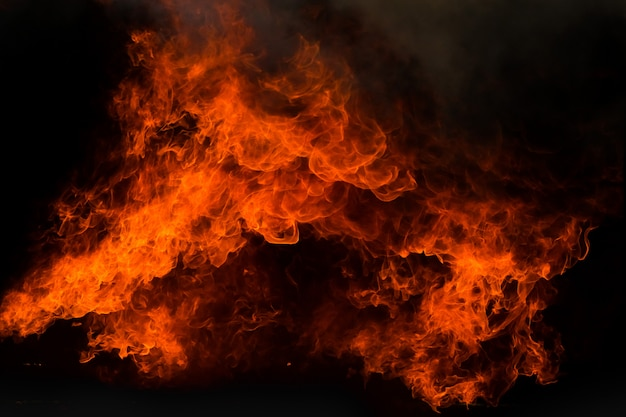Chama de fogo chama textura de fundo