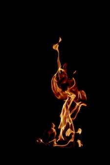 Chama de fogo furioso
