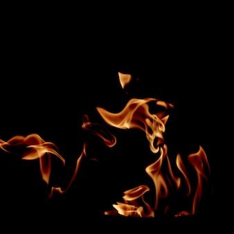 Chama de fogo girando