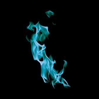 Chama pequena de fogo azul