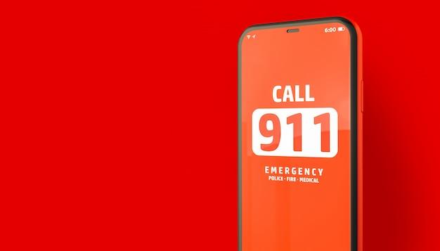 Chamada de emergência 911 do smartphone