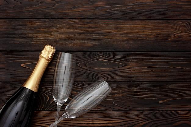 Champanhe como símbolo de ano novo