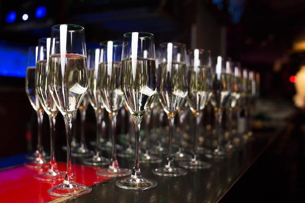 Champanhe para os hóspedes