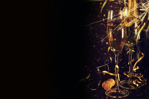 Champanhe pronto para o ano novo
