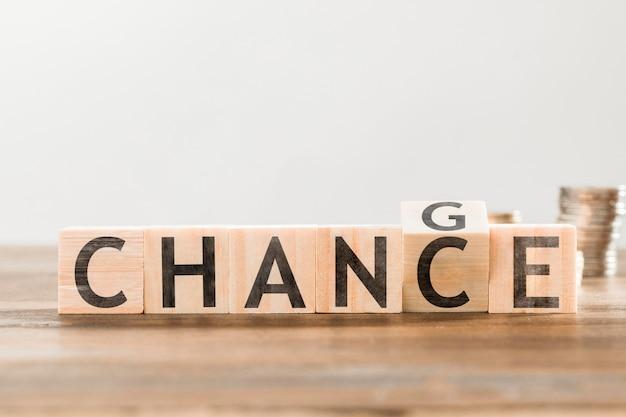 Chance de letras de palavras