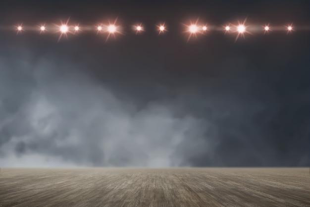 Chão com luzes brilhantes
