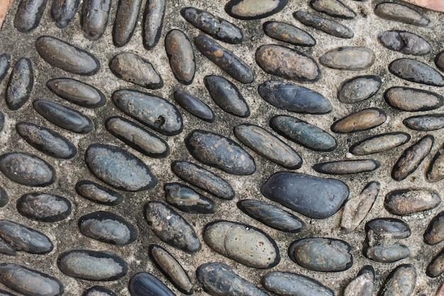 Chão de pedra para o fundo