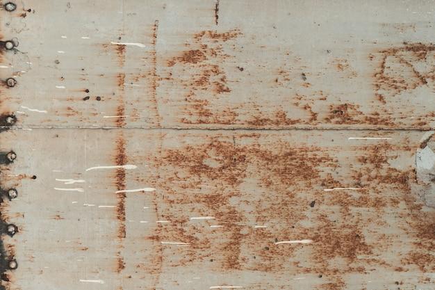 Chapa de aço abstrato com ferrugem, parede de trem velha e enferrujada