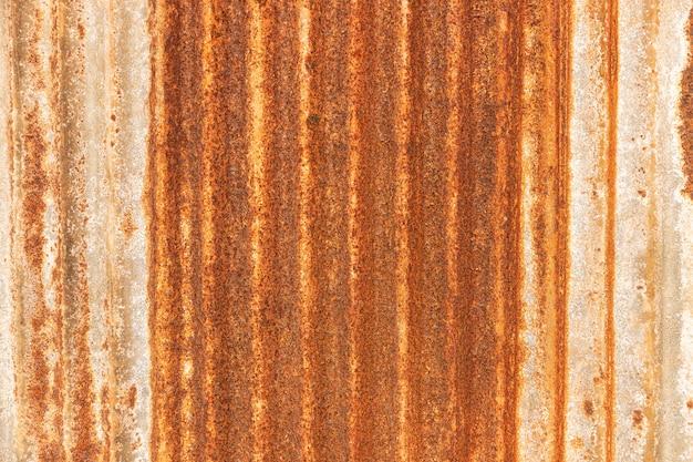 Chapa galvanizada de metal enferrujada