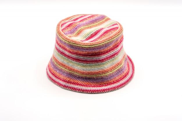 Chapéu de malha colorido