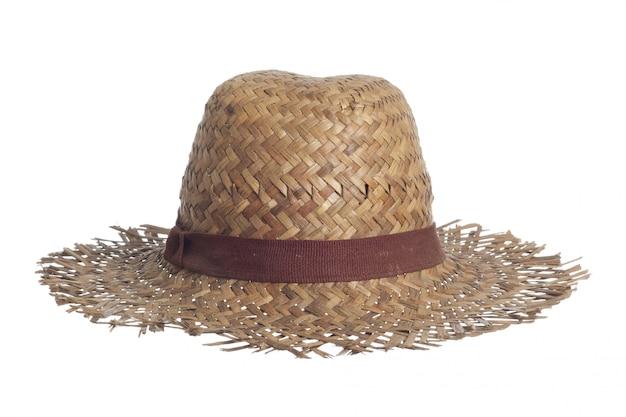 Chapéu de palha isolado