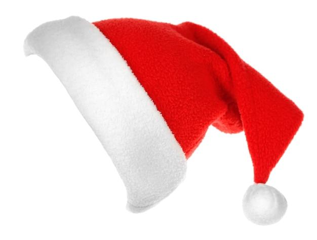 Chapéu de papai noel isolado no branco