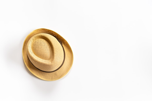Chapéu marrom branco