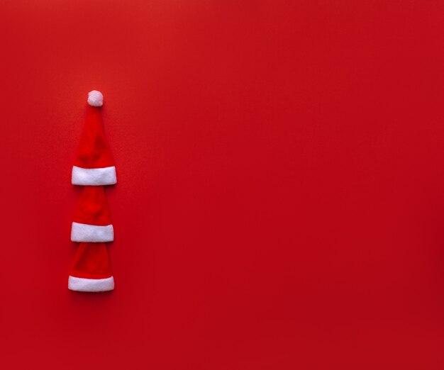 Chapéus vermelhos do papai noel