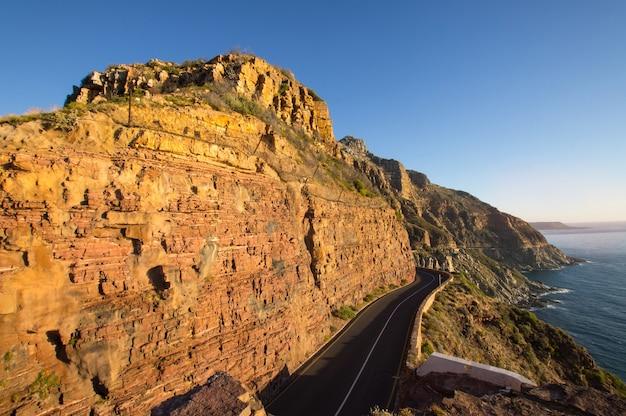 Chapmans peak drive na cidade do cabo na áfrica do sul